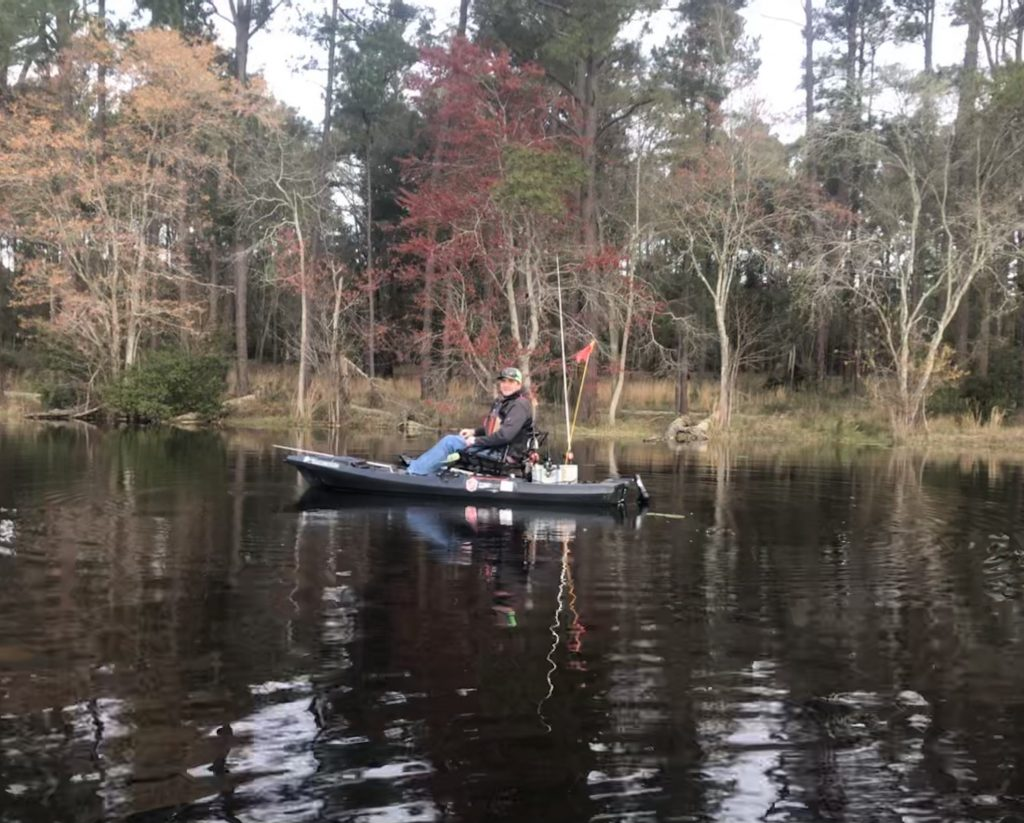 Angler Ed Wolfe in his Bondfide SS107